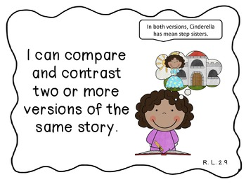 """ELA and Math Common Core """"I can"""" Statements for Second Grade"""