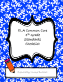 ELA and Math Common Core Standards Checklists - 4th grade