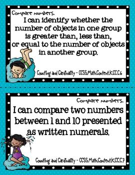"ELA and Math Common Core Standards for Kindergarten (with a ""beach"" twist)"