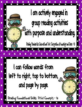 """ELA and Math Common Core Standards for Kindergarten (with a """"robot"""" twist)"""