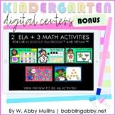 ELA and Math Digital Activities for Kindergarten | Google