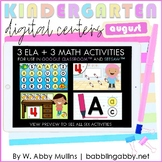 ELA and Math Digital Centers for Kindergarten | August Dis
