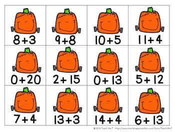 ELA and Math Fall Center Activities For First Grade