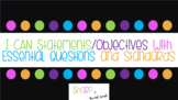 ELA and Math I CAN Statements/Essential Questions Common Core Style RI/RL/OA/NBT
