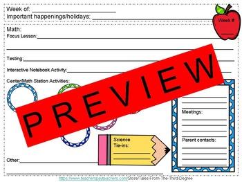 ELA and Math Planning Sheets