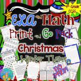 Literacy and Math Print and Go Pack  Christmas and Winter Activities (NO PREP)