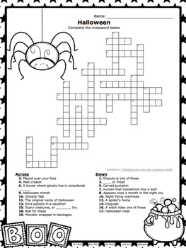ELA and Math Print and Go Pack Halloween Theme Common Core Inspired