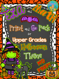 Literacy and Math Print and Go Pack Halloween Theme (No PREP)
