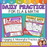 ELA and Math Spiraled Review Bundle Makes great packets fo