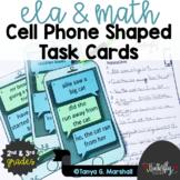 Math & ELA Task Cards 2nd & 3rd Grade | Math & ELA Review | Distance Learning