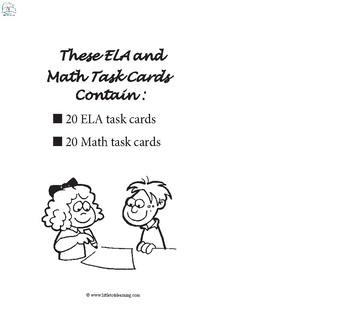 ELA and Math Task Cards