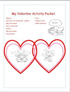 Valentine's day activity packet Grade 1