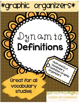 ELA and Math Vocabulary Graphic Organizers