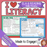 ELA and Reading Spiral Review for Google Classroom Distanc