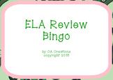 ELA and Reading Vocabulary Review Bingo (6th grade CCSS/Georgia Milestones)