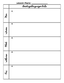 ELA and Social Studies Lesson Plan Template