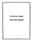 ELA and Social Studies Lesson Plan Template