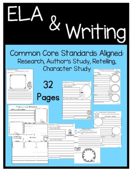 Writing Common Core Research, Author Study, First-Second grade