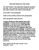 ELA test extended response activity- puzzle and essay template
