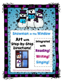 ELA with Snowman in the Window - Art Project