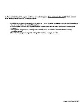 ELA9 Short Story Unit Final Test