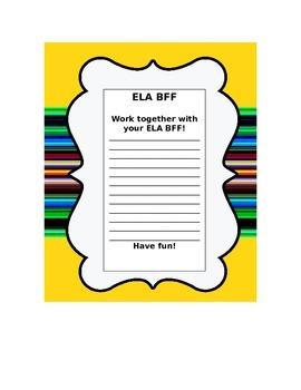ELA~BFF Cooperative Learning Buddies