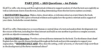ELACC Reading Literature Test