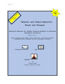 ELAGSE3.RI.4 General and Domain Specific Vocabulary for Special Education