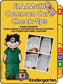 ELA/Math Common Core Check-Ups for Kindergarten