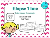 ELAPSE TIME (TO THE NEAREST 5 MINUTES) TASK CARDS