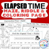 ELAPSED TIME Maze, Riddle & Color by Number (FUN ACTIVITIES)