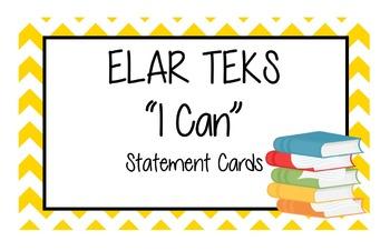 "ELAR ""I Cans"" TEKS 2nd Grade - Language Arts"