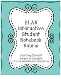 ELAR Interactive Notebook Rubric