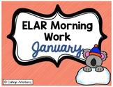 ELAR Morning Work-January