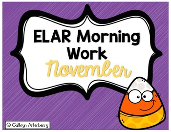 ELAR Morning Work-November