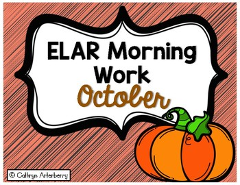 ELAR Morning Work-October