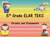 5th Grade ELAR I Can Statements