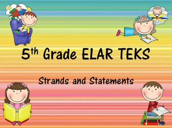 5th Grade ELAR I Can Statements