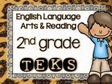 ELAR TEKS Posters - 2nd grade {Leopard Theme}