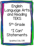 ELAR TEKS I Can Statements