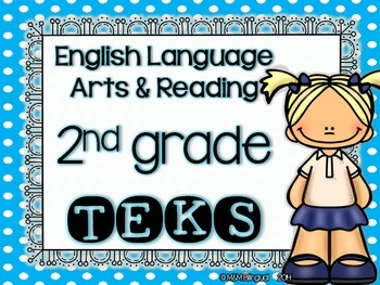ELAR TEKS Posters - 2nd grade {Blue Polkadots}