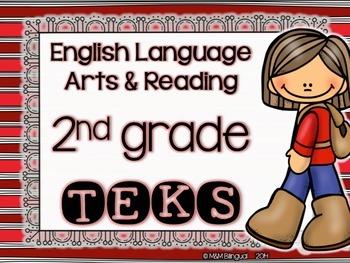 ELAR TEKS Posters - 2nd grade {Red Stripes}