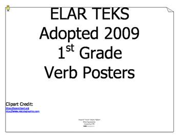 ELAR TEKS Verbs for 1st Grade