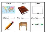 ELD Classroom Object Games