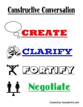 ELD Constructive Conversation Sentence Starters Common Core Aligned