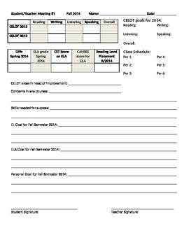 ELD Goal Setting and Reclassification Sheet 1 of 4