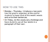 ESL/ELD Word of the Day - 8 weeks of words