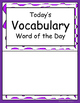 ELD Word of the Day Vocabulary