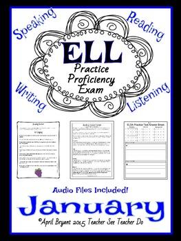 English Language Practice Test with AUDIO (January)