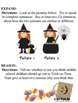 English Language Speaking Practice with Halloween Theme